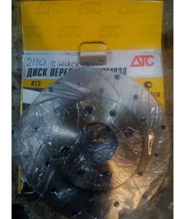 Заказать диски тормозные АТС 2110 с перфорацией и насечками по выгодной цене в интернет-магазине