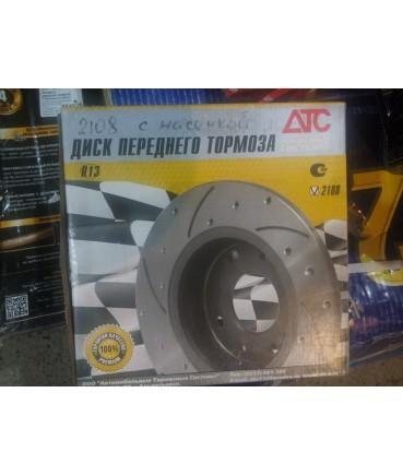 Заказать диски тормозные АТС 2108 с перфорацией и насечками по низкой цене в интернет-магазине