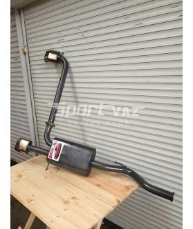 Заказать Раздвоенный двойной глушитель Muscle car для ВАЗ 2113, ВАЗ 2114 без выреза бампера