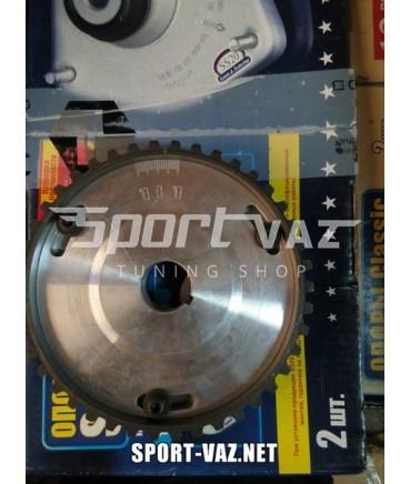 Качественная разрезная шестерня на ВАЗ 8кл Грм с алюминевой ступицей и шкалой